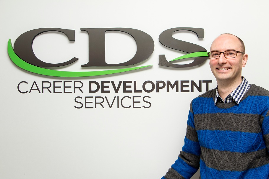 man, logo, career development services