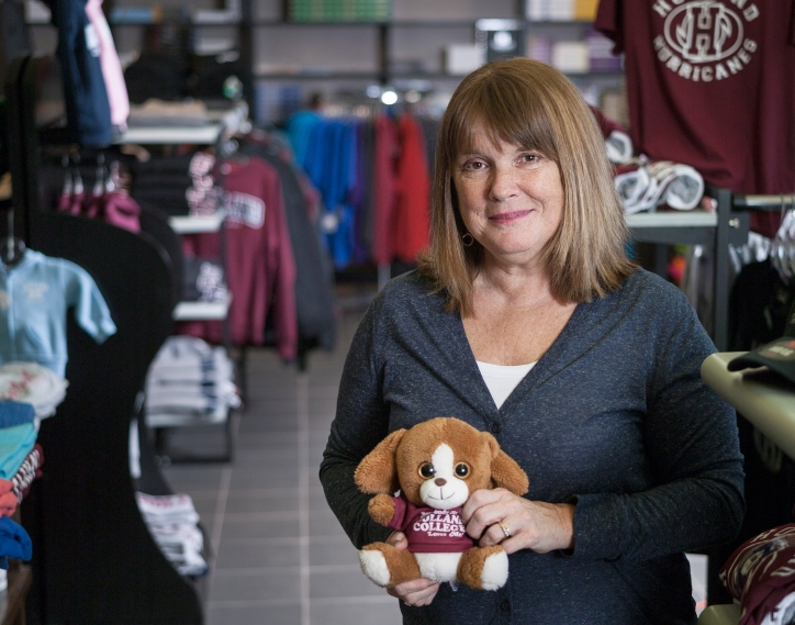 holland college, woman, store, teddy